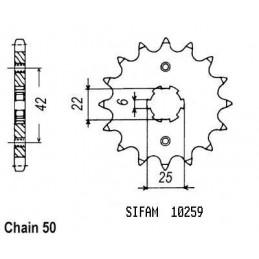 Pignon Cb 400 F 75-1979 -...