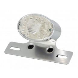 Feu Arrière LED Chromé +...