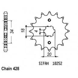 Pignon Xlr 125 1983-1991 -...