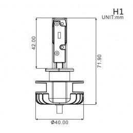 Ampoule H1 LED + Ballast -...